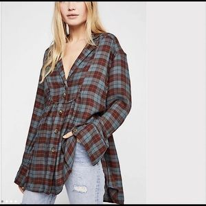 Free People All About The Feels Flannel
